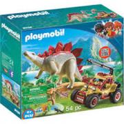 Playmobil Veicolo degli esploratori e Stegosauro