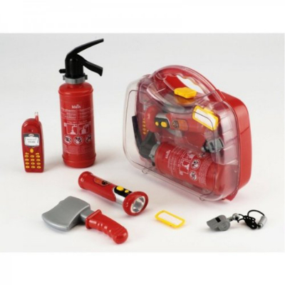 Valigetta del pompiere giocattolo