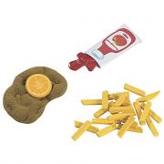 Cotoletta con patatine fritte giocattolo