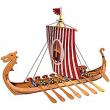 Kit legno nave vichinga
