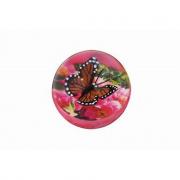 Pallina magica rimbalzante con una farfalla in 3D