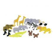 Animali dell'Africa in legno