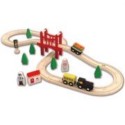 Set Trenino in legno 37 Pezzi