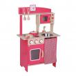 Cucina in legno rossa