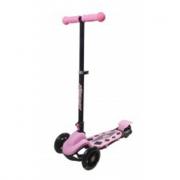 Monopattino rosa con 3 ruote