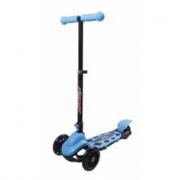 Monopattino blu con 3 ruote