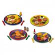 Set piatto con cibo in plastica