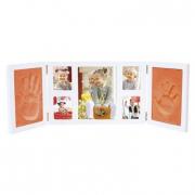 Cornice 66 cm. con foto e stampo mani piedi 3D