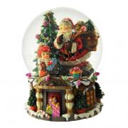 Sfera Babbo Natale con sacco cm. h19