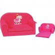 Divano rosa principesse cavalli per bimbe