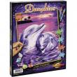 Colora con i numeri delfini
