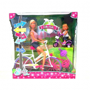 Steffi love ed evi in bici