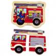 Puzzle in legno Camion dei pompieri