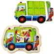 Puzzle in legno Camion dei rifiuti