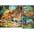 """Puzzle """"Bambi, Baloo e Simba"""" 3x49 pezzi"""