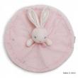 Coniglio doudou rotondo rosa