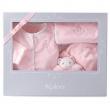 Valigetta regalo 4 pezzi rosa Kaloo perle