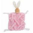 Fazzoletto doudou coniglio plume rosa