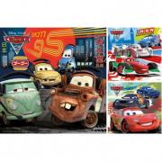 """Puzzle Cars 2 """"Giro intorno al mondo"""" 3x49 pezzi"""