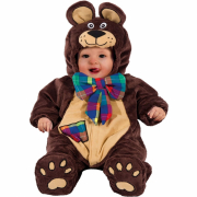 Happy Teddy costume carnevale 6/9 mesi