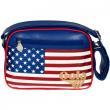 Borsa Gola Mini Redford Glitter USA Blue/Red/White/Gold