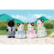 Famiglia Gatti bicolore Sylvanian Families