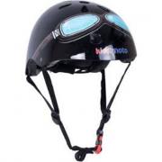 Casco Kiddimoto bici nero con occhiali medium