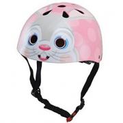 Casco bici Kiddimoto coniglio rosa tg. S