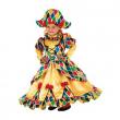 Costume Arlecchina 2/3 anni