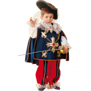 Costume d'Artagnan baby 1/2 anni