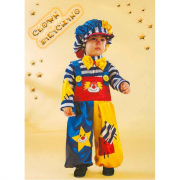 Clown birichino costume 2/3 anni