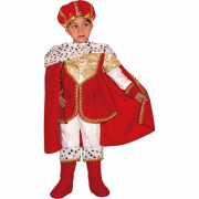 Little king costume 3/4 anni