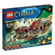 70006 Lego Chima - La nave Coccodrillo di Cragger 8-14 anni