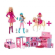 Camper Barbie+2 sorelle+Cavallo
