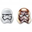 Star wars mascher in cartone 6 pezzi