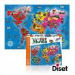 Puzzle Paesi del Mondo 37 pezzi Diset