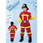 Pompiere costume 7/8 anni