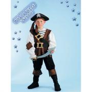 Costume pirata delle nebbia tg. 9/10 anni