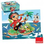 Puzzle Pirata 35 pezzi scatola latta Goula