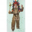 Capo Indiano costume 3/4 Anni
