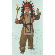 Capo Indiano costume 5/6 Anni