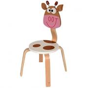 Sedia in legno mucca