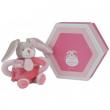 Coniglietto sonaglio rosa cm. 18 Dou Dou et Compagnie