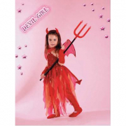 Costume Devil Girl tg. 7/8 anni