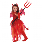 Devil girl costume 3/4 anni