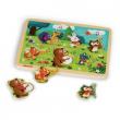 Puzzle musicale in legno animali del bosco