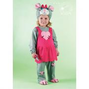 Costume topina baby 2/3 anni