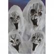 Maschera Fantasma Bianco in fingomma 4 modelli ass. c/cappuccio