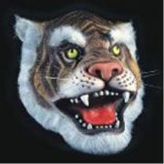 Maschera Tigre in fingomma in busta con cavallotto