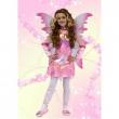 Costume Magic Fairy rosa tg. 5/7 anni